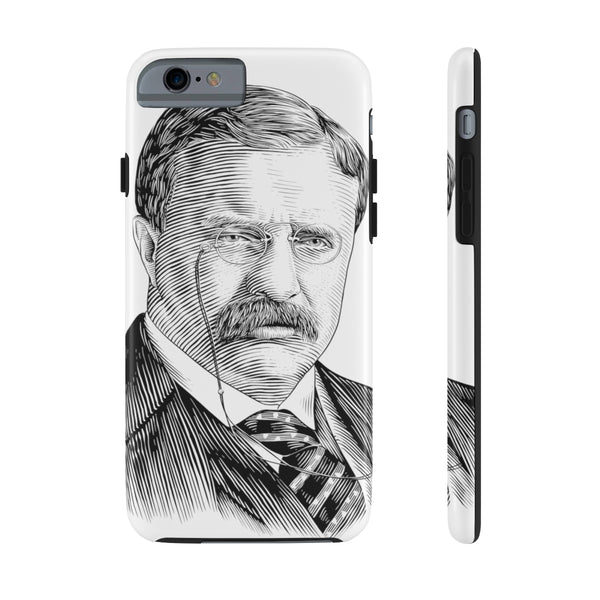 Teddy Roosevelt Case Mate Tough Phone Case - Biblioriot