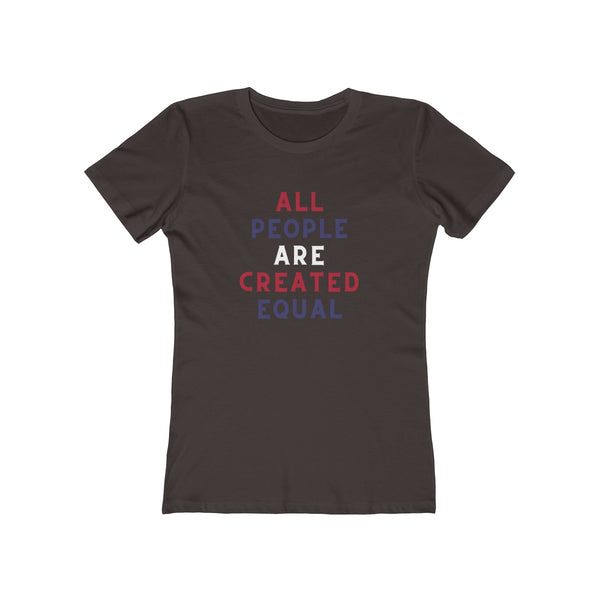 All People Are Created Equal Women's T-Shirt (Red, White & Blue) - Biblioriot
