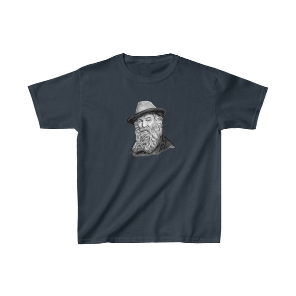 Walt Whitman Kids T-Shirt - Biblioriot