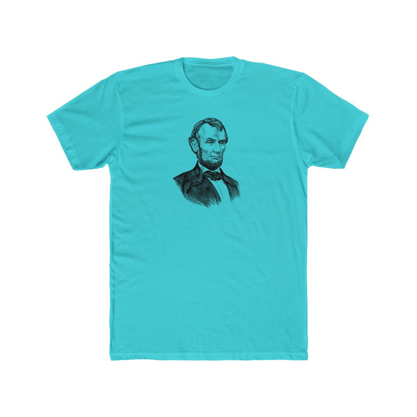 Abraham Lincoln Cotton Crew T-Shirt - Biblioriot