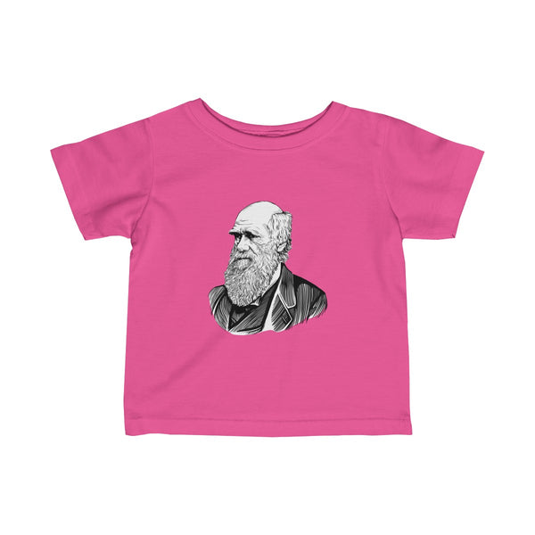 Charles Darwin Baby and Toddler T-Shirt - Biblioriot