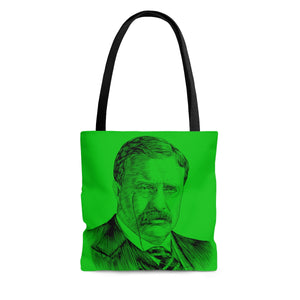 Teddy Roosevelt Poly Tote Bag (Green) - Biblioriot