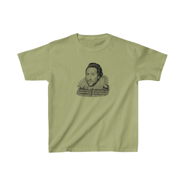 William Shakespeare Kids T-Shirt - Biblioriot