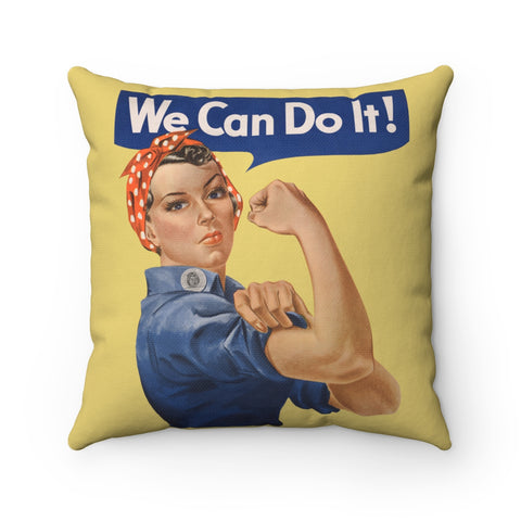 Rosie the Riveter Square Pillow -- We Can Do It! - Biblioriot