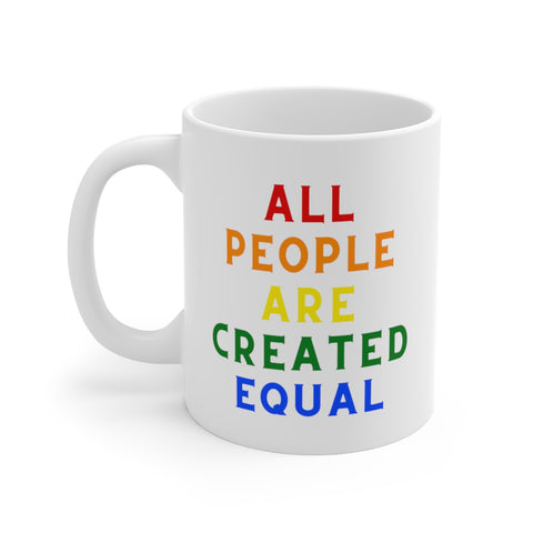All People Are Created Equal - Declaration of Independence - Mug - Biblioriot
