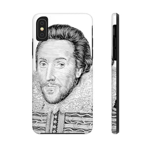William Shakespeare Case Mate Tough Phone Case (White) - Biblioriot