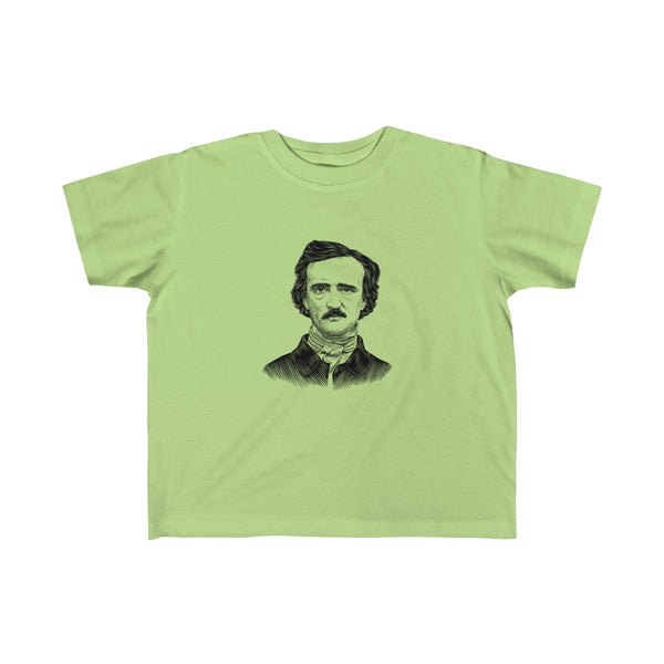 Edgar Allan Poe Toddler and Young Kids T-Shirt - Biblioriot