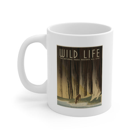 National Parks Preserve Wildlife Ceramic Mug -- Deer -- WPA - Biblioriot