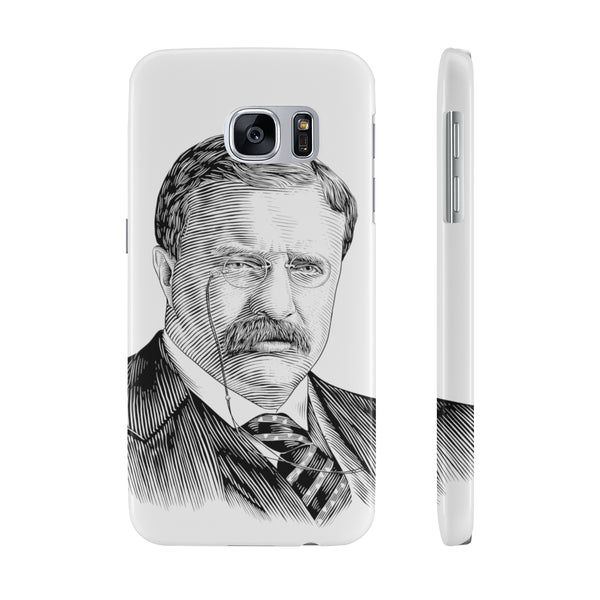 Teddy Roosevelt Case Mate Slim Phone Case - Biblioriot