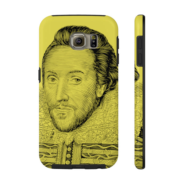 William Shakespeare Case Mate Tough Phone Case (Yellow) - Biblioriot