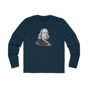 Benjamin Franklin Long Sleeve Crew T-Shirt - Biblioriot