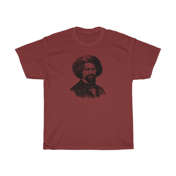 Frederick Douglass Heavy Cotton T-Shirt - Biblioriot