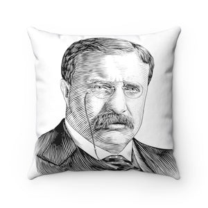 Teddy Roosevelt Square Pillow - Biblioriot