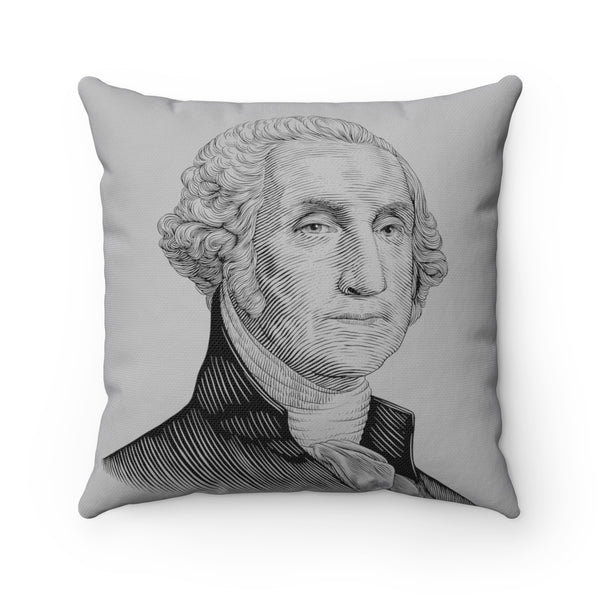 George Washington Square Pillow Case (Grey) - Biblioriot