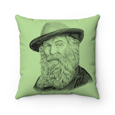 Walt Whitman Square Pillow Case - Biblioriot