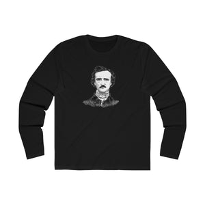Edgar Allan Poe Long Sleeve Crew T-Shirt - Biblioriot