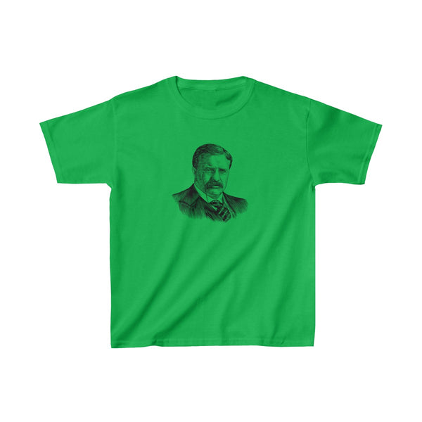 Teddy Roosevelt Kids T-Shirt - Biblioriot