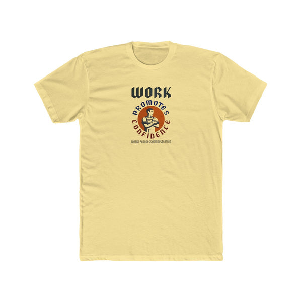 Works Progress Administration Cotton Crew T-Shirt -- Work Promotes Confidence - Biblioriot