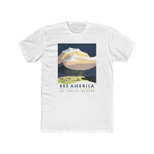See America -- Welcome to Montana Cotton Crew T-Shirt -- WPA - Biblioriot