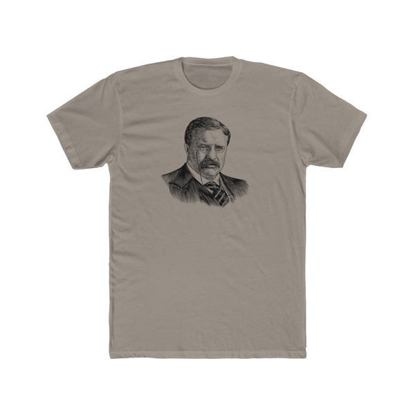 Teddy Roosevelt Cotton Crew T-Shirt - Biblioriot