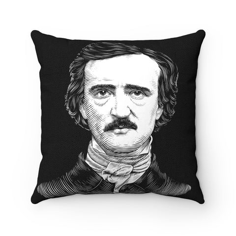Edgar Allan Poe Square Pillow Case - Biblioriot