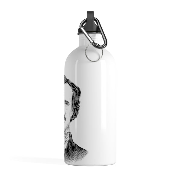 Edgar Allan Poe Stainless Steel Water Bottle - Biblioriot