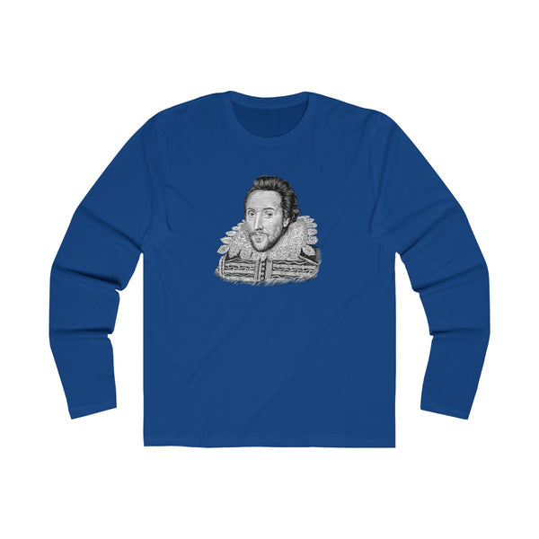 William Shakespeare Long Sleeve Crew T-Shirt - Biblioriot