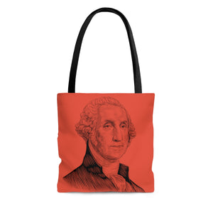 George Washington Poly Tote Bag (Poppy Red) - Biblioriot
