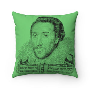 William Shakespeare Square Pillow Case - Biblioriot