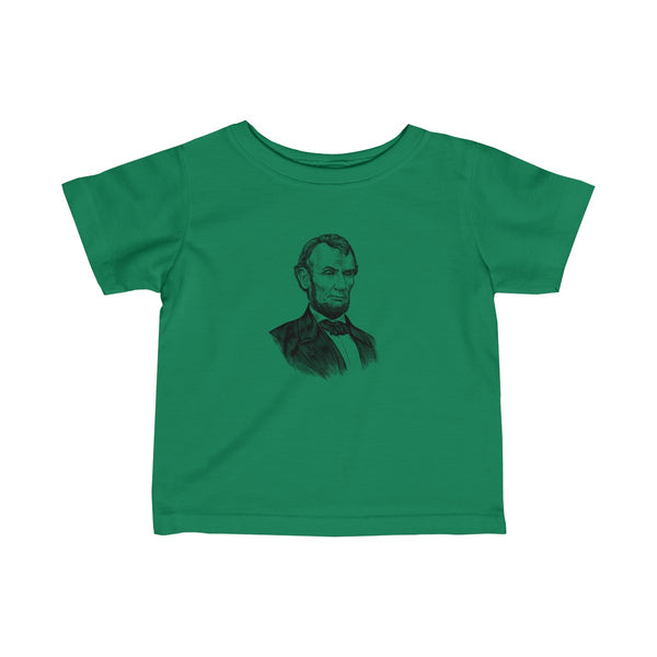 Abraham Lincoln Baby and Toddler T-Shirt - Biblioriot