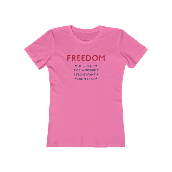 Four Freedoms - Franklin D. Roosevelt - Women's T-Shirt - Biblioriot