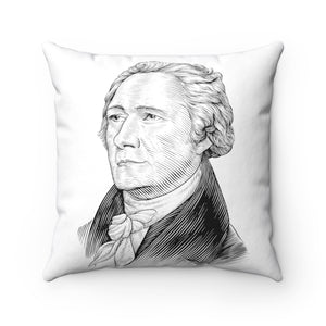 Alexander Hamilton Square Pillow Case - Biblioriot