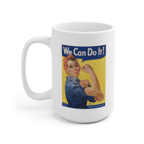Rosie the Riveter Ceramic Mug -- We Can Do It! - Biblioriot