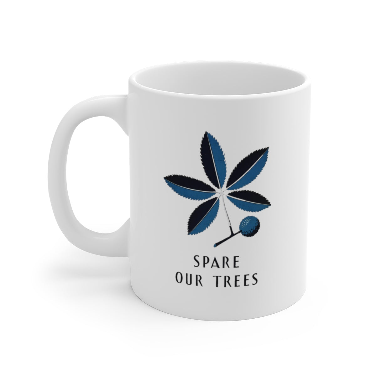 Spare Our Trees Ceramic Mug -- Works Progress Administration - Biblioriot