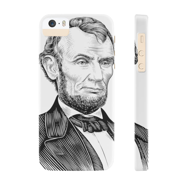 Abraham Lincoln Case Mate Slim Phone Case - Biblioriot