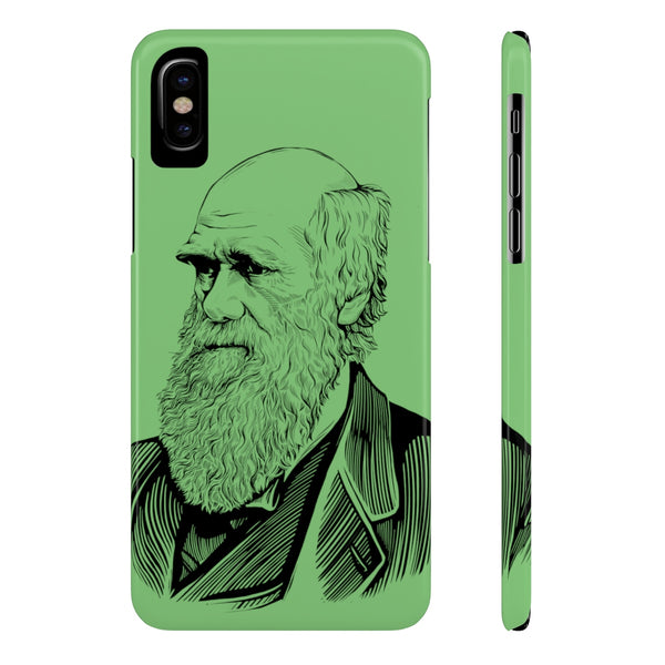 Charles Darwin Case Mate Slim Phone Case (Green) - Biblioriot