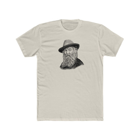 Walt Whitman Cotton Crew T-Shirt - Biblioriot