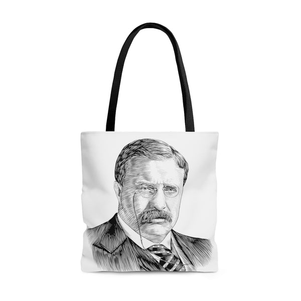 Teddy Roosevelt Poly Tote Bag - Biblioriot