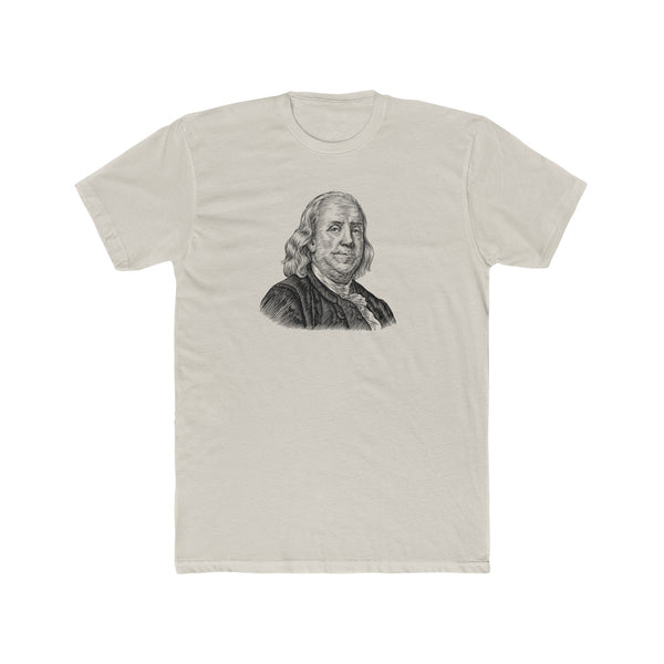 Benjamin Franklin Cotton Crew T-Shirt - Biblioriot