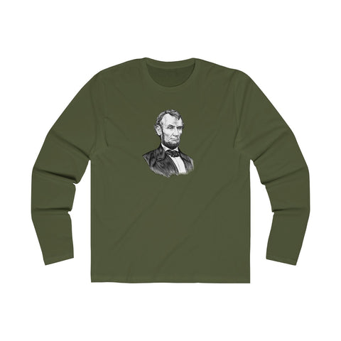 Abraham Lincoln Long Sleeve Crew T-Shirt - Biblioriot