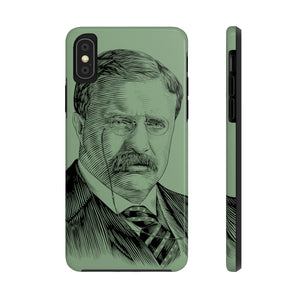 Teddy Roosevelt Case Mate Tough Phone Case (Willpower Green) - Biblioriot