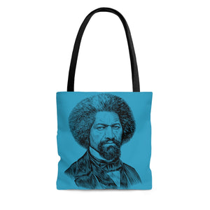 Frederick Douglass Poly Tote Bag (Abolition Blue) - Biblioriot