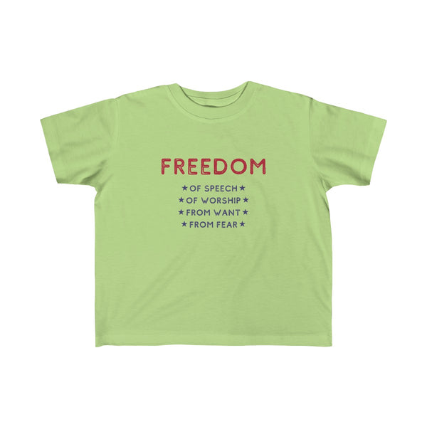 Four Freedoms Toddler and Young Kids T-Shirt - Biblioriot