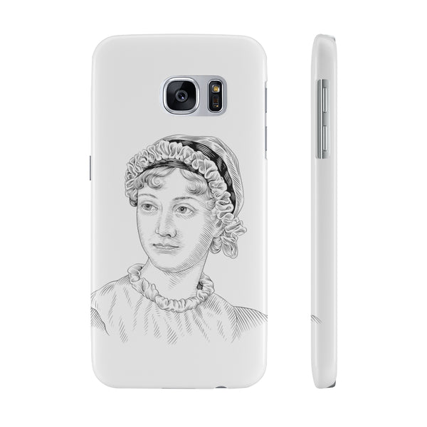 Jane Austen Case Mate Slim Phone Case - Biblioriot