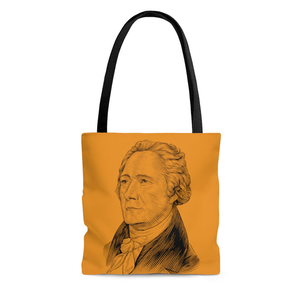 Alexander Hamilton Poly Tote Bag (Federalist Orange) - Biblioriot