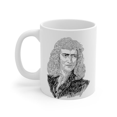 Sir Isaac Newton Ceramic Mug - Biblioriot