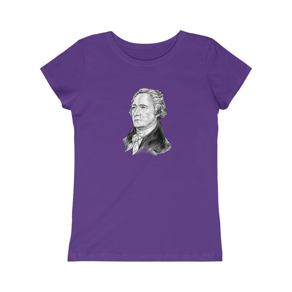 Alexander Hamilton Girls Princess T-Shirt - Biblioriot