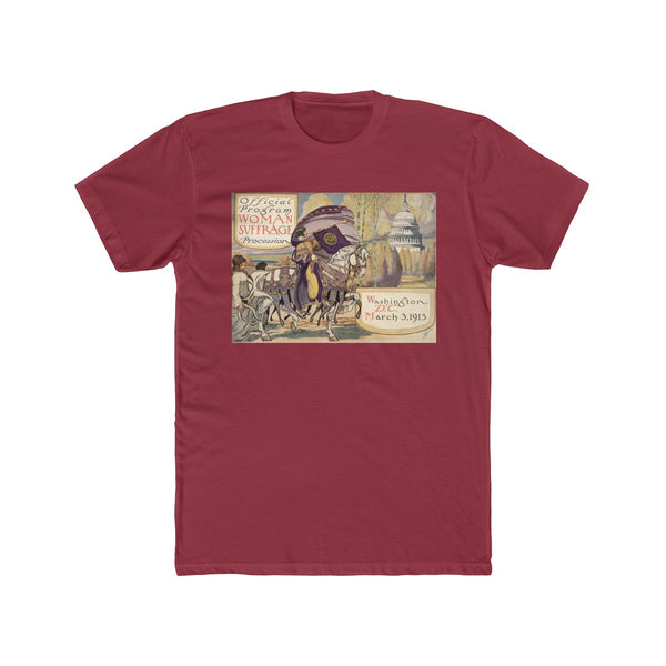 Women's Suffrage Parade of 1913 Cotton Crew T-Shirt - Biblioriot