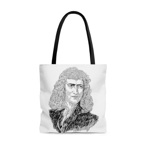 Sir Isaac Newton Poly Tote Bag - Biblioriot