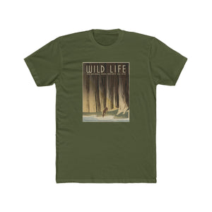 National Parks Preserve Wildlife Cotton Crew T-Shirt -- Deer -- WPA - Biblioriot